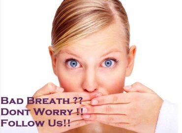 Avoiding bad breath